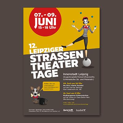 Plakat 12. Leipziger Straßentheater
